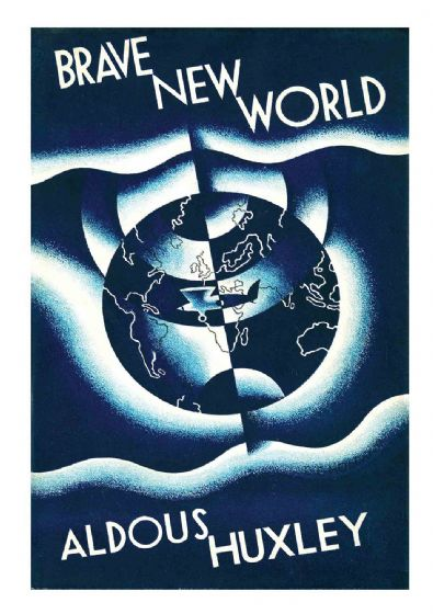 Aldous Huxley: Brave New World. Classic Book Art Print/Poster. Sizes: A4/A3/A2/A1 (002420)